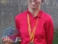 Raquel Martinez, a la vuelta del nacional de esquí, cargada de oro