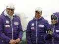 Staff del Equipo Nacional de Esquí Alpinode izqda a derecha:Andrés Gómez, Responsable Nacional de Deportes de InviernoDani Castet, Seleccionador de Esquí AlpinoLara Iglesia, Preparadora Física Deportes de Invierno, foto Julio FEDPC