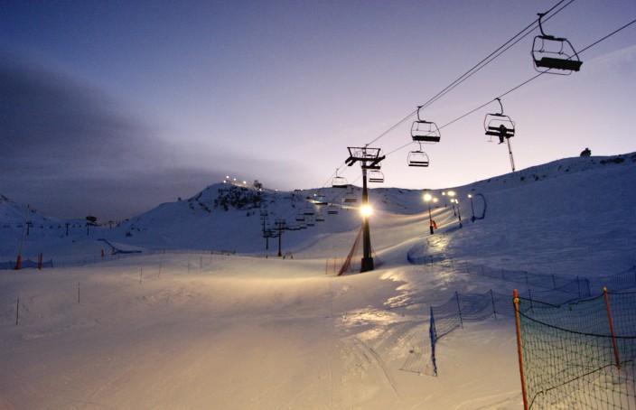 Slalom nocturno en Pas