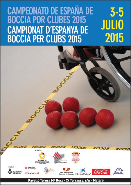 Campeonato de España de Boccia por Clubes 2015