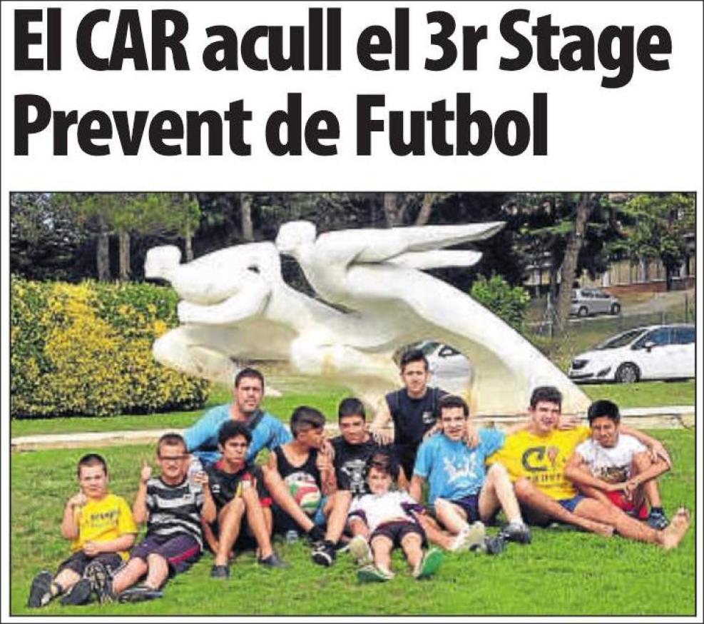 El CAR acoge el tercer Stage Prevent de Fútbol