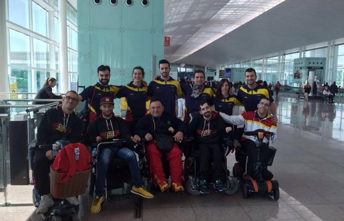 La expedición española al Campeonato Mundial Individual de Boccia Pekín 2016