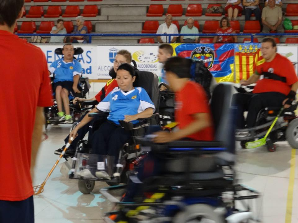 Powerchair Hockey - partido de competición